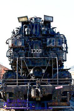 C&O 4-6-6-4 locomotive 1309 at the B&O Railroad Museum. Sister locomotive 1308 sits at the Collis P. Huntington Railroad Historical Society's museum yard in Huntington, WV.