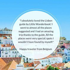 It's always nice to receive reviews like these by one if our happy customers from Belgium!  Also want to have a weekend to Lisbon never to forget? Get the 3-day Lisbon guidebook by @littlewanderbook now! (via link in bio!)