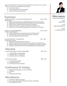 33 best dental hygiene resumes images on pinterest cv template