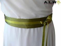 Brautgürtel in Grün - SEIDE ! von alw-design auf DaWanda.com