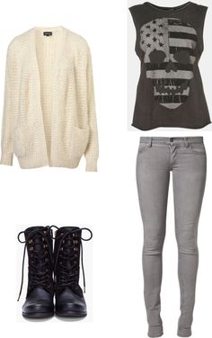 """What to wear to a 1D Concert Outfit #3"" by eleanor-calder-inspired-outfits ❤ liked on Polyvore"
