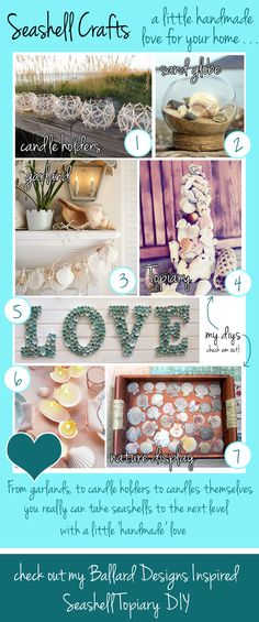 Seashell Craft Ideas - something to do with all the shells my mom has collected! :)