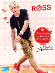 This was the first poster I ever got of Ross Lynch. Good times.