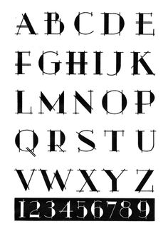 typeface from Lettering of Today by the Hunt Brothers, 1947