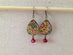 Tin Jewelry Earrings Bright Paisley Tin for the by TheMadCutter, $31.00