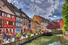 French & German influences commingle in Colmar, #France, which was spared destruction during World War II—thanks in part to the beauty of its cobblestoned lanes, quiet canals, & half-timbered houses. #travel