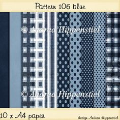 Backing Paper Pattern 106 blue - £2.00 : Instant Card Making Downloads