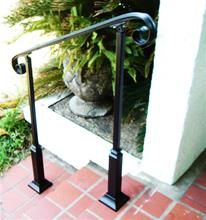 4 Ft Wrought Iron Stair Hand Rail U0026 2 Decorative Posts Interior Or Exterior  $445