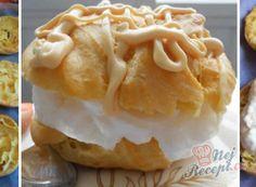 Věnečky s pudinkovým krémem | NejRecept.cz Czech Desserts, Russian Recipes, Yummy Cookies, Recipies, Dessert Recipes, Nutella, Yummy Food, Cooking, Cake