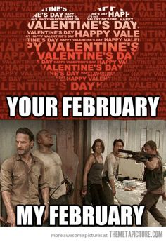 Your February vs. My February #twd