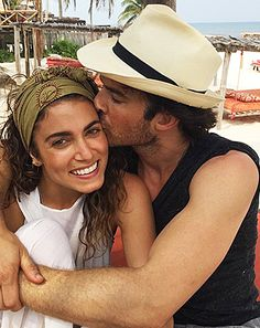 The Vampire Diaries Nikki Reed & Ian Somerhalder(Damon)