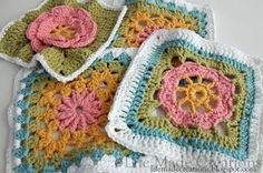 She links to patterns/pattern books - pinning because I love these colors!