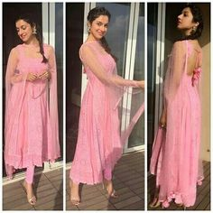 Divya Khosla Kumar is every bit of a diva and her immaculate sense of fashion proves it. Check out some of her best looks. Casual Indian Fashion, Indian Fashion Dresses, Dress Indian Style, Indian Designer Outfits, Pakistani Dresses, Designer Dresses, Indian Fashion Trends, Fashion Suits, Indian Sarees