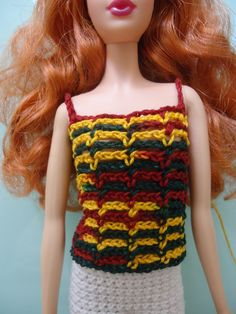 This hub is a plain lacy sleeveless top made specifically for Barbie Basics doll (or Model Muse).