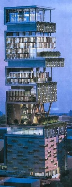 Amazing Snaps: Antilia - Most expensive Home in the World, Mumbai,India. Absolutely vulgar idea, but a cool building.