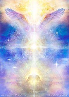 Visionary Art Gallery by Daniel B. Arte Chakra, Meditation, Angel Guidance, Spirited Art, Angel Pictures, Guardian Angels, Visionary Art, Angel Art, Love And Light