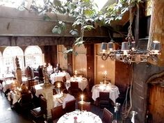 The Witchery is the most amazing hotel & restaurant on the Royal Mile in Edinburgh. The set menus are great value. I coveted the Witchery dining room - a dark gothic affair but I was happy enough in the Secret Garden. The hotel rooms look sumptuous. A stay there is on my Want! board.
