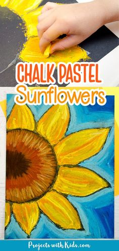 Kids will learn easy chalk pastel techniques to create this fun sunflower art project that is a perfect art activity for fall! Chalk Pastel Art, Chalk Pastels, Sunflower Art, Autumn Art, Art Activities, Art Projects, Fun, Kids, Crafts