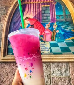 Don't even know what this drink is but it sure looks good- if only they could make the white blue it would be perfect for Sleeping Beauty! . Walt Disney World I Disney Food I Disney Gluten Free I Gluten Free Disney I Disney Vacation