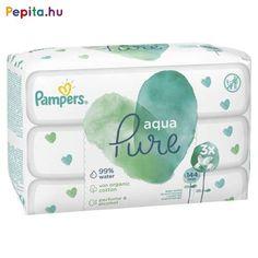 A 99%-ban vízből és organikus pamutból készült Pampers Aqua Pure törlőkendő segít megóvni a babák finom bőrét. Parfümöt vagy alkoholt nem tartalmaz. Az összetevők fennmaradó 1%-a bőrgyógyászatilag tesztelt, gyengéd tisztító hatóanyagokból valamint igazolt összetevőkből áll, melyek segítenek megőrizni a kisbabák bőrének pH-egyensúlyát, illetve óvják azt az irritációval szemben. Az Aqua Pure törlőkendők biztonságosan használhatók az újszülöttek bőrén is.    Jellemzői:  - 99%-ban vízzel készült… Pampers Premium Care, Perfume, Aquaman, Baby Size, Pure Products, Affordable Clothes, Alcohol, Fragrance