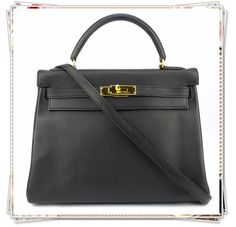 HERMES KELLY 32 Black Ardennes With Gold Hardware Good Condition Ref.code-(KTUK-2) More Information Pls Email  (- luxuryvintagekl@ gmail.com )Or Call Our Bangsar Showroom -0320956266 Whatsapp- Hq+60102203384TQ
