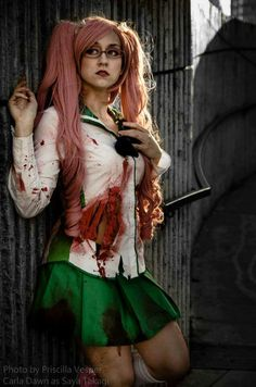 Takagi Saya cosplay - Highschool of the Dead. She annoyed the hell out of me. But still, awesome cosplay.