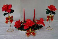 centro de mesa con flores en goma eva PARA BODA - Buscar con Google