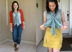 Style File: Blogger Roundup / Ruche Blog  Love the top and skirt combo on the right!