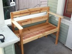 Do Yourself Wood Projects | Garden Bench on a diet | Do It Yourself Home Projects from Ana White