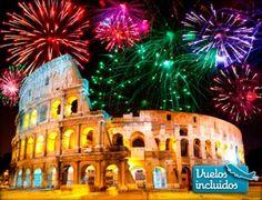 ¡Da la bienvenida al Año Nuevo en Roma! Te ofrecemos vuelos i/v desde Barcelona con Alitalia, 3 noches en hotel 4*, desayunos, traslados y tasas
