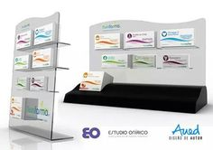 Diseño de exhibidor de productos para mostrador