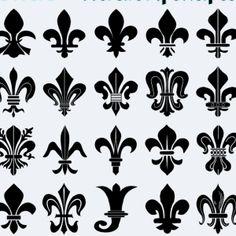Fleurs-de-lis shapes for heraldry & heraldic design
