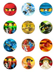 instant download ninjago 2 cupcake toppers favor by atlantisparty