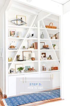 [Get the look] Cómo decorar con estilo unas estanterías en 3 pasos | Decoración