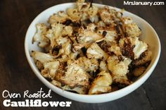Oven Roasted Cauliflower - one of the most delicious ways to cook cauliflower, ever! This side dish is so good that sometimes I eat it just as a snack!