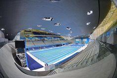 Das London Aquatics Centre für die Olympischen Sommerspiele 2012. Zum Nachruf: http://www.nachrichten.at/nachrichten/kultur/Stararchitektin-Zaha-Hadid-gestorben;art16,2192902 (Bild: Reuters)