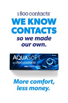 Contacts should be more comfortable and more affordable – so we made some that are. Try AquaSoft Daily and get two weeks free. Daily Contact Lenses, Makeup Tips, Eye Makeup, Paz Mental, Simple Life Hacks, Trust God, Health And Nutrition, Along The Way, Good To Know