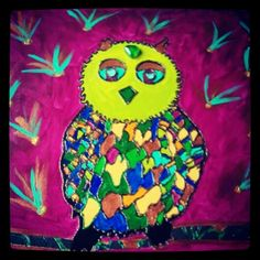 Owl made by mine son and me i luve it very artistic we are a great team