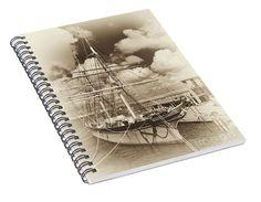 """Isometric View """"Tall Ship Elissa"""" by Norman Gabitzsch, Houston Photographer #SpiralNotebook #Journal #SchoolSupplies #BackToSchool #Notebook #TallShip #Art #GiftIdeas"""