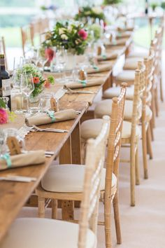 Rustic Coral & Aqua table setting with hessian & lace table runner - Lisa Carpenter - Honour By Alan Hannah For A Rustic Marquee Wedding At Axnoller Dorset With Bridesmaids In Mint Green Ted Baker Dresses And Groom In Paul Smith With Images By Lisa Carpenter Photography