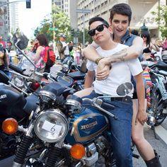 Lesbian bike racers are
