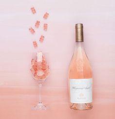Er du vild med rosévin OG vingummi, så vil du elske disse lækre og smukke rosé-vingummibamser.