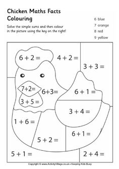 Chicken maths facts colouring page is part of Math facts - Kindergarten Math Worksheets, School Worksheets, Teaching Math, Math Activities, Easter Worksheets, Math Addition, Homeschool Math, Math Facts, First Grade Math
