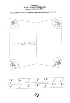 Fise de lucru School Lessons, Kindergarten Worksheets, Viera, Christmas Crafts, Chart, Education, Gabriel, Pdf, Logo
