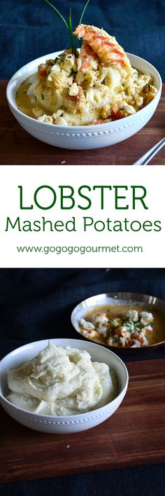 Lower Excess Fat Rooster Recipes That Basically Prime Lobster Mashed Potatoes-Creamy Boursin Mashed Potatoes, Topped With Lobster And An Old Bay Cream Sauce Lobster Dishes, Lobster Recipes, Seafood Dishes, Seafood Recipes, Cooking Recipes, Seafood Meals, Lobster Dip, Lobster Sauce, Lobster Tails