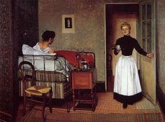 "Maid on Pinterest   222 Pins www.pinterest.com800 × 592Buscar por imagen 1783. Detail of ""A kitchen maid"" by Hugues Taraval. Scissors and pincushion hang from her waist. ------------------------------ Felix Vallotton PINTURA - Buscar con Google"