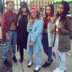 I wanna squad that knows how to dress Tomboy Fashion, Fashion Killa, 90s Fashion, Grunge Fashion, Swagg Girl, Girl Swag, Go Best Friend, Best Friend Goals, Bff Goals