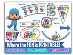 Super Party Kit Pocoyo Fiesta Imprimible por Printnfun en Etsy, €18.00 #pocoyo #pocoyoparty #fiestapocoyo #imprimiblepocoyo