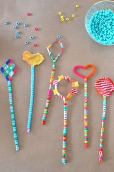 pipe cleaner wands - fun craft for kids