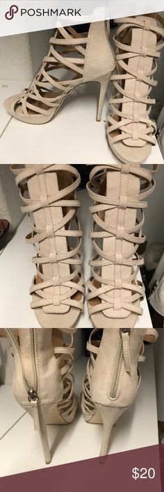 Caged Heels Just fab caged heels has never been worn. Perfect condition JustFab Shoes Heels